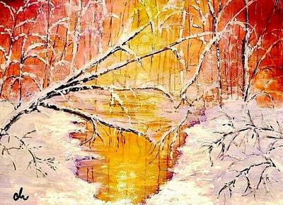 Art Print featuring the painting Sun Shy... by Cristina Mihailescu