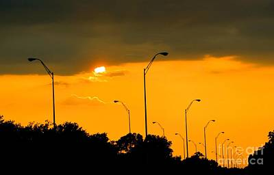 Photograph - Sun Sinking After Storm  by Janette Boyd