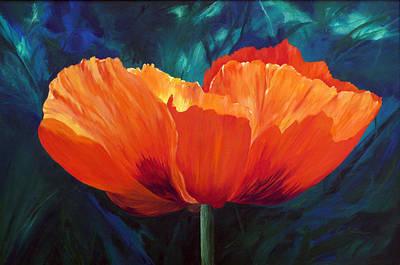 Filter Painting - Sun Song by Karen Mattson
