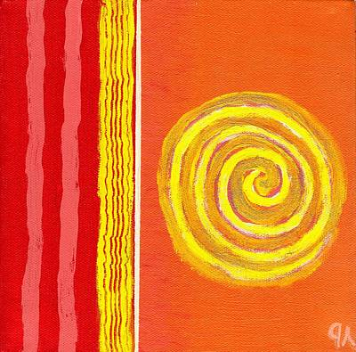 Painting - Sun Spinning To Collision by Jeremy Aiyadurai