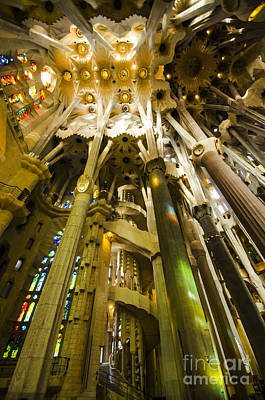 Photograph - Sun-splashed Sagrada Interior by Deborah Smolinske