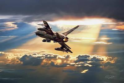 Fight Digital Art - Sun Split Clouds by Peter Chilelli