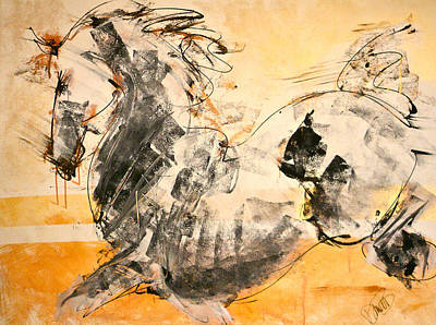 Thoroughbred Mixed Media - Horses Stallion by Donna Bernstein