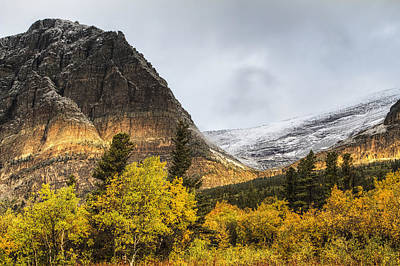 Many Glacier Photograph - Sun Streak On Altyn Mountain by Mark Kiver