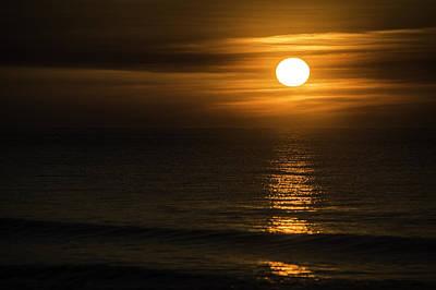 Digital Art - Sun Streak On The Water by Michael Thomas