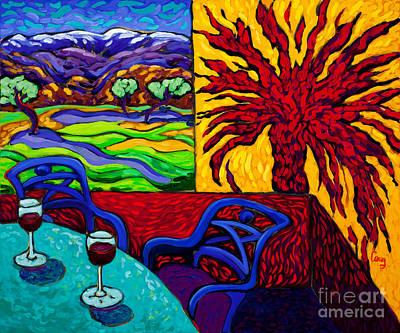 Desert Landscape Painting - Sun Stroke by Cathy Carey