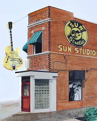 B.b.king Painting - Sun Studio by Ferrel Cordle