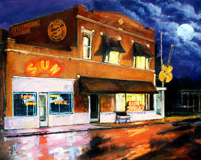 Painting - Sun Studio - Night by Robert Reeves