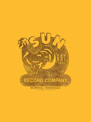 Johnny Cash Digital Art - Sun - Sun Record by Brand A