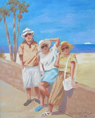 Painting - Sun Tourist by Tony Caviston