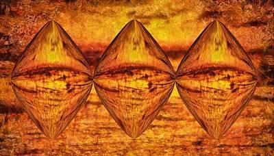 Science Fiction Mixed Media - Sun Trinity by Dan Sproul