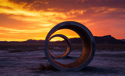 Circle Photograph - Sun Tunnels by Peter Irwindale