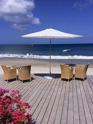 Photograph - Sun Umbrella In St Lucia by John Colley