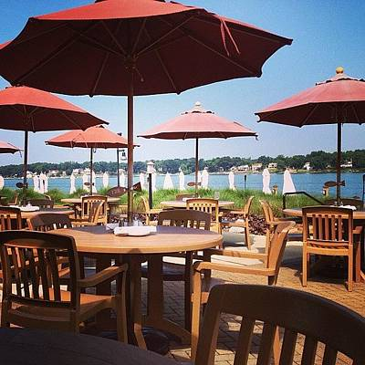 Restaurant Photograph - Sun Umbrellas by Christy Beckwith