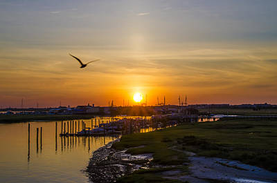Sun Up At Two Mile Landing - Wildwood Crest Art Print by Bill Cannon