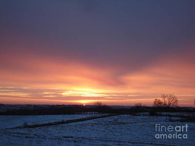 Sun Up In January Art Print