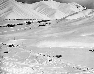 Sun Valley New Ski Resort Print by Underwood Archives
