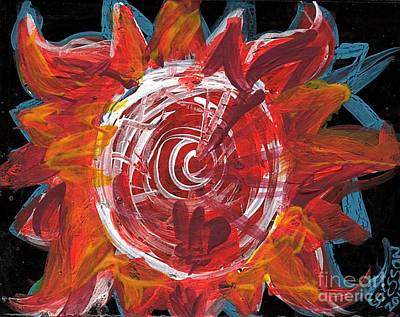 Gods Sunshine Painting - Sun Vita D by Genevieve Esson