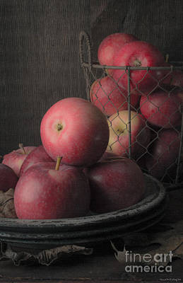 Food And Beverage Royalty-Free and Rights-Managed Images - Sun Warmed Apples Still Life by Edward Fielding