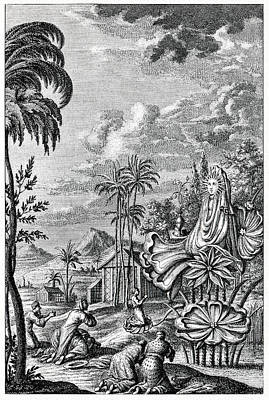 1732 Photograph - Sun Worship In Babylonia by Cci Archives