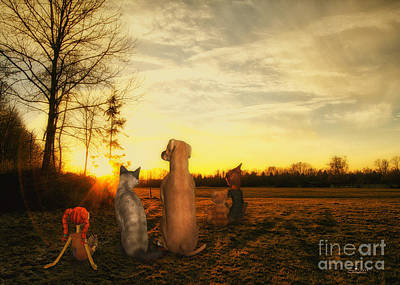 Digital Art - Sun Worshipers by Jutta Maria Pusl