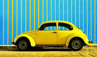 Classic Automobile Photograph - Sun Yellow Bug by Laura Fasulo