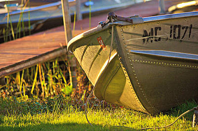 Photograph - Sunbathed Boat by Mary Frances