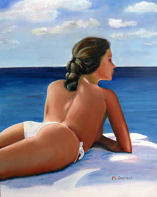 Embodiment Painting - Sunbather by Marcel Quesnel