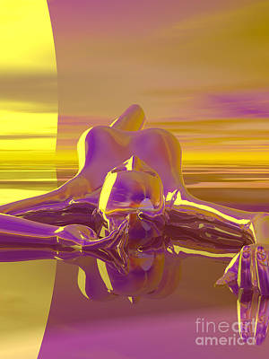 Digital Art - Sunbather by Sandra Bauser Digital Art