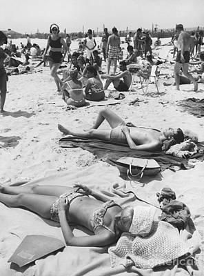 Photograph - Sunbathers, 1963 by Suzanne Szasz