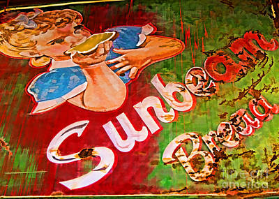 Photograph - Sunbeam Bread Sign by Audreen Gieger