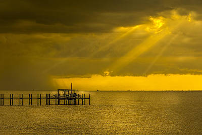 Overcast Photograph - Sunbeams Of Hope by Marvin Spates