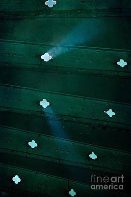 Sunbeams Throught The Old Metal Stairs Art Print by Jaroslaw Blaminsky