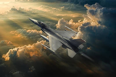 F-16 Digital Art - Sunbird by Peter Chilelli