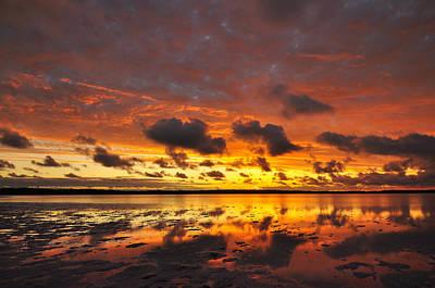 Sunburnt Sky Art Print by Sally Nevin