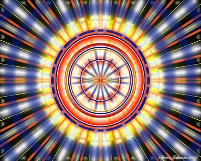 Art Print featuring the digital art Sunburst by Brian Johnson