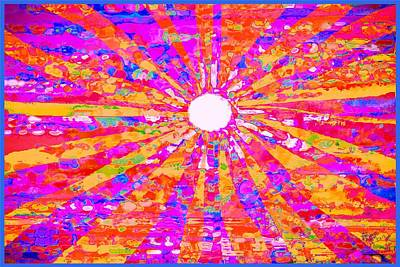 Digital Art - Sunburst  by Expressionistart studio Priscilla Batzell