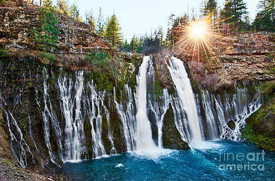Fall Photograph - Sunburst Falls - Burney Falls Is One Of The Most Beautiful Waterfalls In California by Jamie Pham
