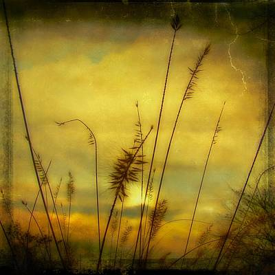 Aged Brilliant Dusk Sunburst Art Print by Gothicrow Images