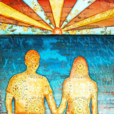 Beach Vacation Mixed Media - Sunburst In Love by Danny Phillips