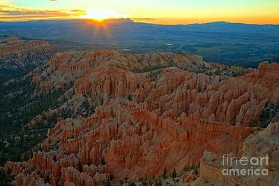 Photograph - Sunburst Over Bryce by Adam Jewell