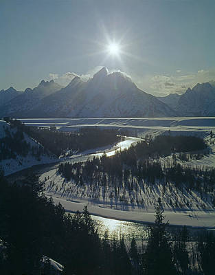 Sean Rights Managed Images - 1M9313-Sunburst over Grand Teton, WY Royalty-Free Image by Ed  Cooper Photography
