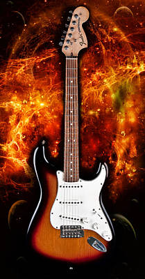 Sunburst Stratocaster Art Print by Peter Chilelli