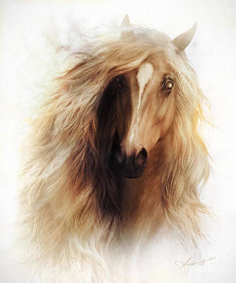 Power Digital Art - Sundance Horse Portrait by Shanina Conway