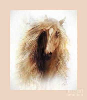 Wild Mustang Painting - Sundance Mustang Frame by Shanina Conway