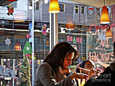 Photograph - Sunday Afternoon At Dunkin Donuts 11 by Sarah Loft
