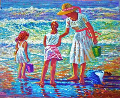 Painting - Sunday Afternoon At The Beach by Joseph   Ruff