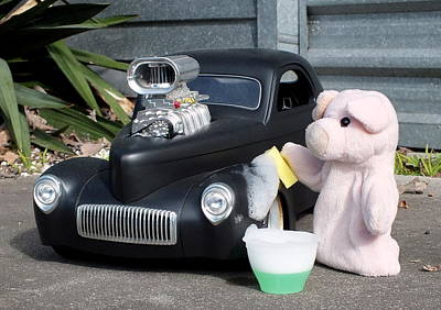 Photograph - Sunday Afternoon Carwash by Piggy