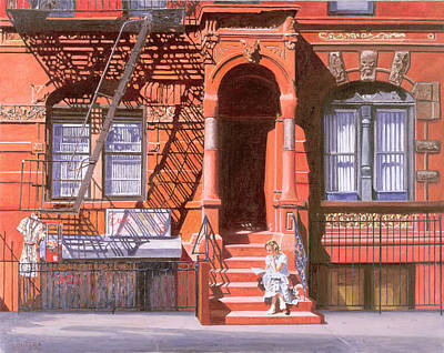 Americana Painting - Sunday Afternoon East 7th Street Lower East Side Nyc by Anthony Butera