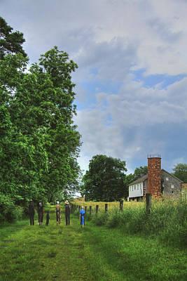Amish Farms Digital Art - Sunday Afternoon Walk by Sharon Batdorf